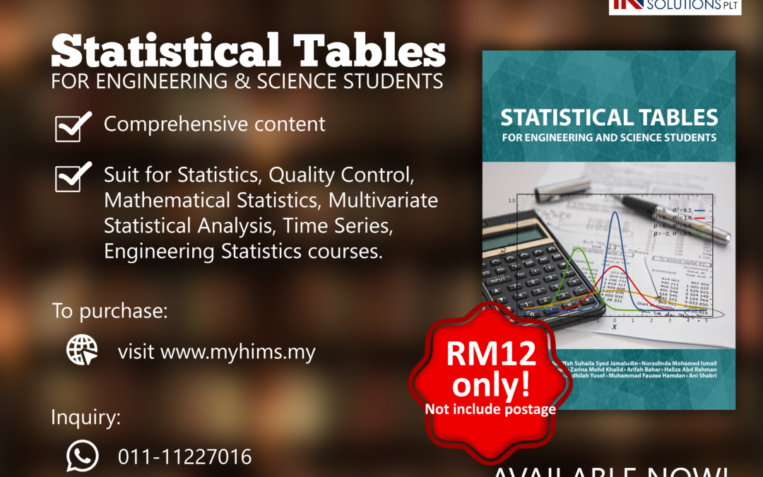 Purchase Statistical Tables for Engineering and Science Students